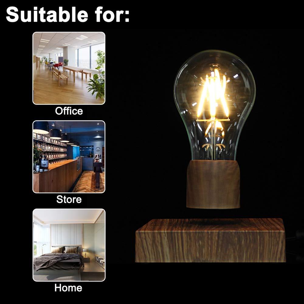 Disumos Magnetic Levitating Lamp Magnetic Levitating Floating LED Bulb Night Light Gift Home Desk Lamp Decor AC110-240V - UK Plug by Disumos (Image #5)