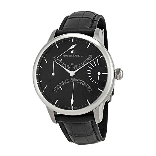 Reloj Automático Maurice Lacroix Masterpiece Double Rétrograde, Negro, ML 191: Amazon.es: Relojes