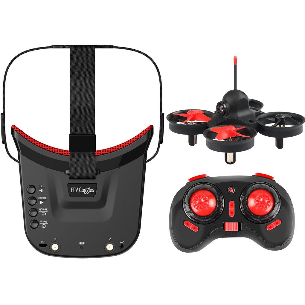 Morza 5.8GHz 40CH Empfänger Kamera Gyroskop Fernbedienung Flugzeug Headless Modus 3.0 Zoll LCD 480x320 Mini FPV Schutzbrillen