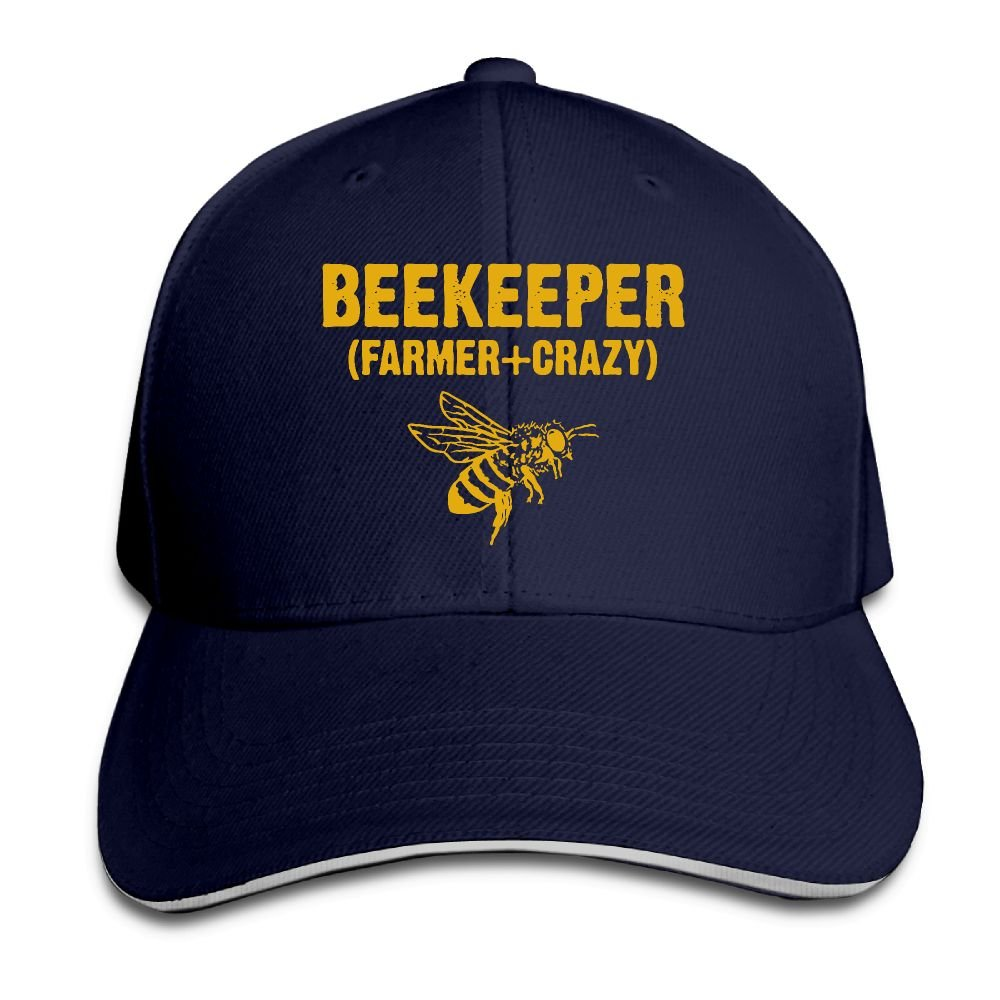 Women's/Men's Beekeeper Farmer Crazy Adult Adjustable Snapback Hats Baseball Cap Youkindforthey