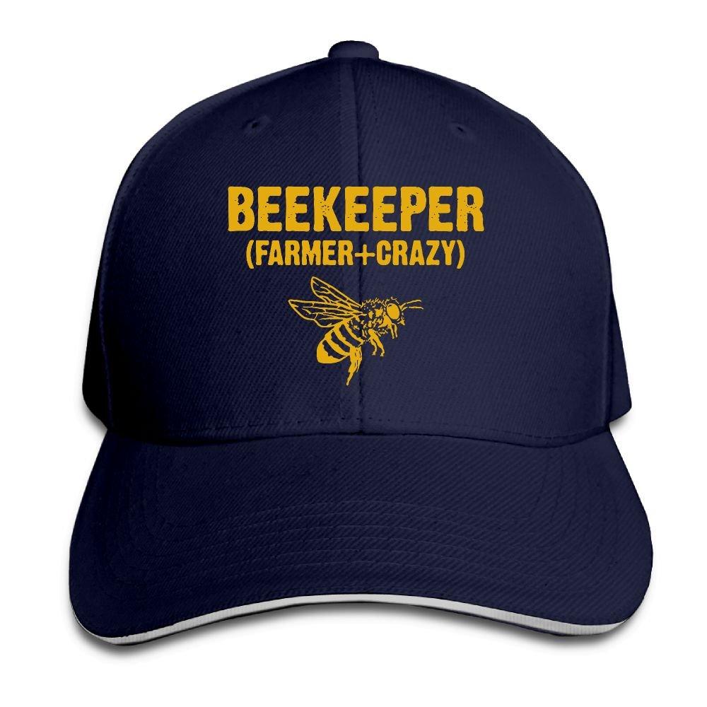 Women's/Men's Beekeeper Farmer Crazy Adult Adjustable Snapback Hats Baseball Cap Youkindforthey