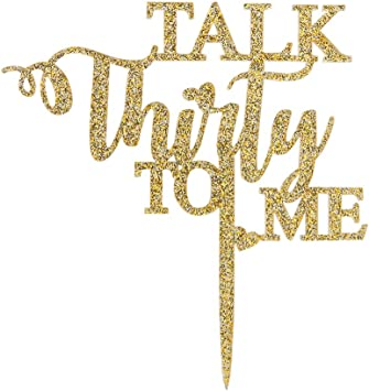 Amazon.com: Talk Thirty to Me - Decoración para tarta con ...