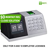 $ 0 Monthly Fees | WiFi Fingerprint Clock + Cloud