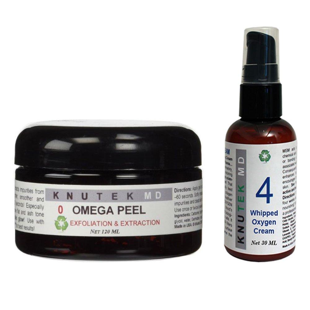 Bundle of Two Items: kNutek Omega Peel 4 oz. & Whipped Oxygen Cream 1 oz