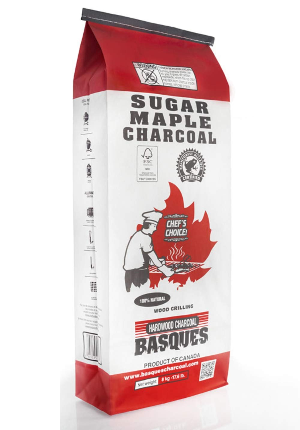 Basques Hardwood Chacoa 61553 Sugar Maple Lump Charcoal, 17.6 Lbs by Basques Hardwood Chacoal
