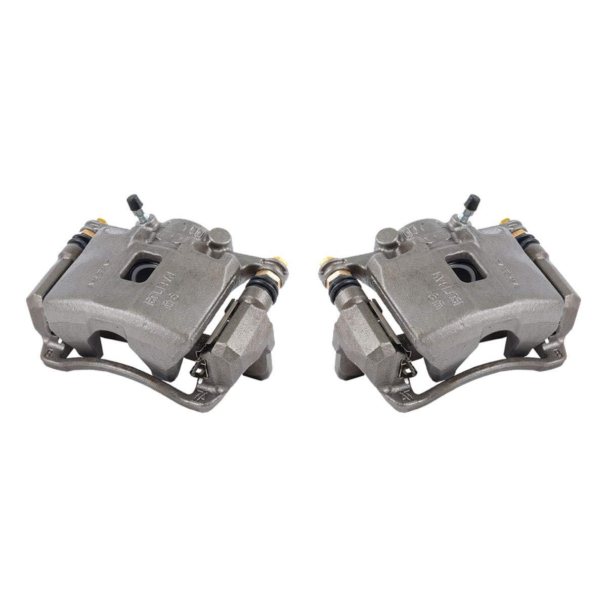 2 FRONT Premium Grade OE Semi-Loaded Caliper Assembly Pair Set CKOE00949