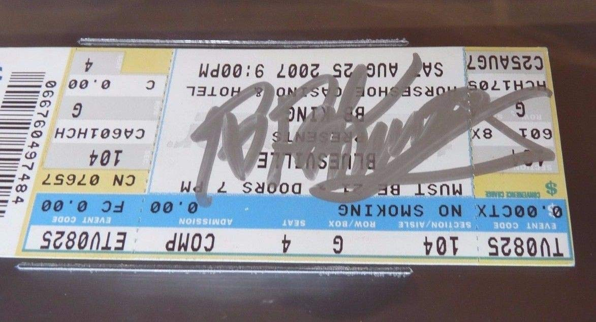 Bb King Autographed Signed Beckett Authentic & Slabbed Concert Ticket #2