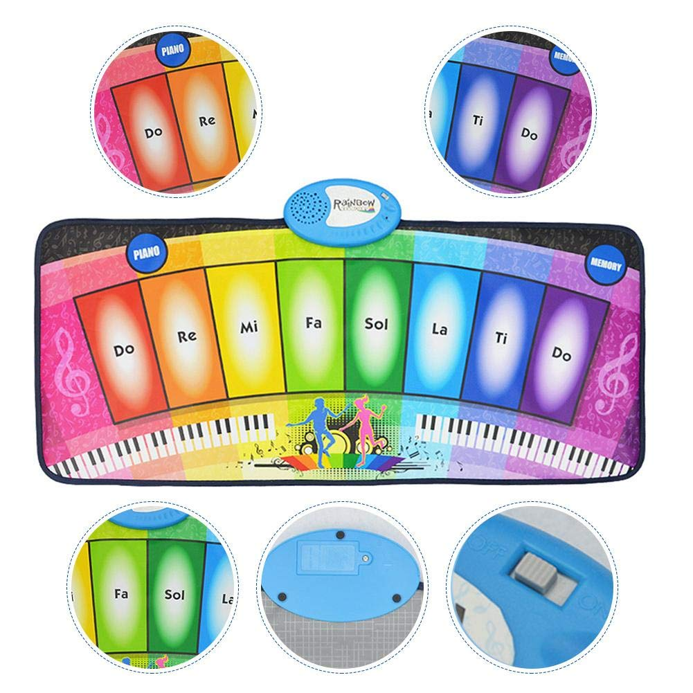 garyone-Game Dance mat Piano mat Children's Music Rainbow Keyboard Playmat Gift for Kids and Adult by garyone (Image #8)
