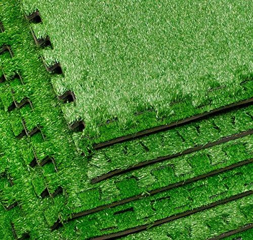 Sorbus Grass Mat Interlocking Floor Tiles Soft