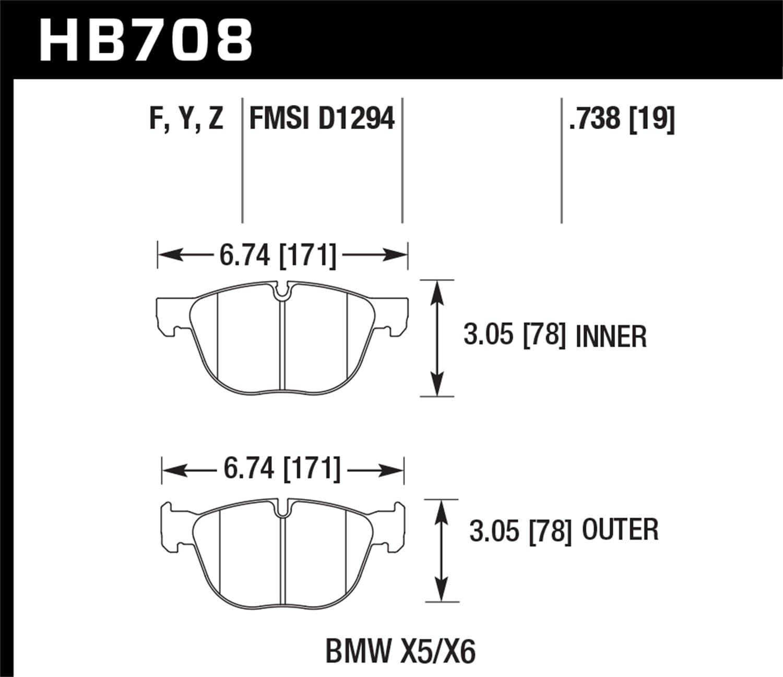 Hawk Performance HB711Z.661 Street Brake Pad