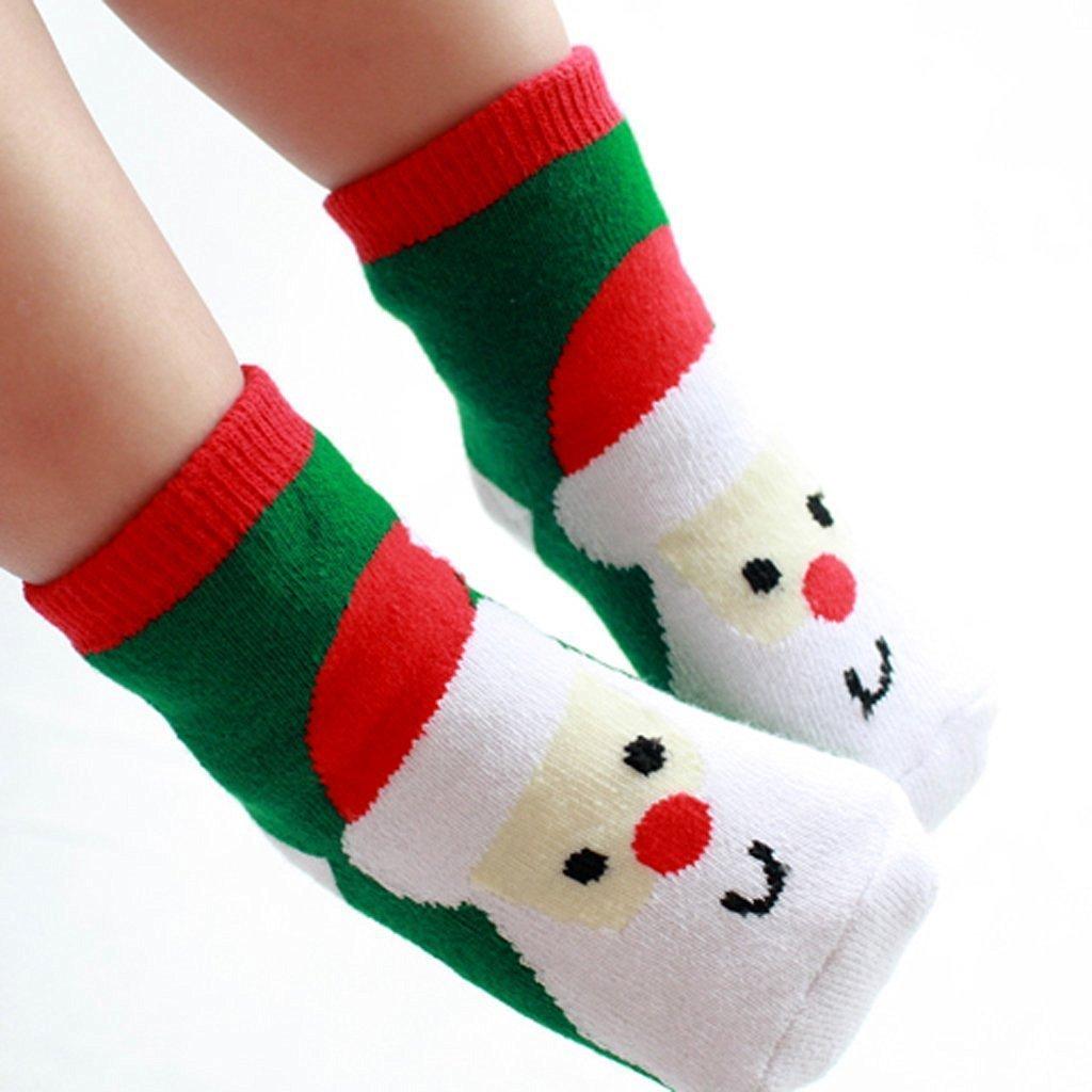 Nalmatoionme 1paire pour enfant Claus Motif chaussettes de Noël Accessoires cadeaux Taille S