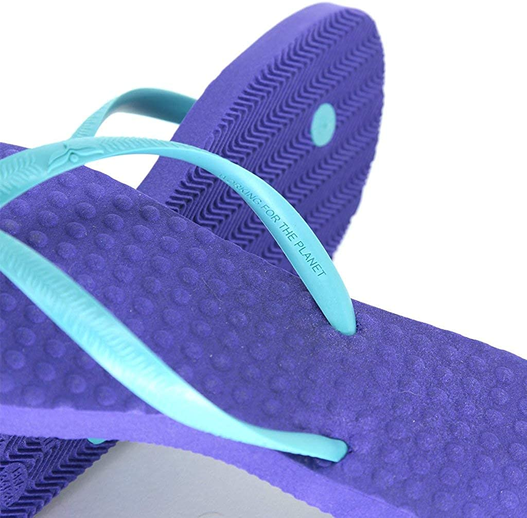 Eco-Friendly Sandals Purple with Turquoise Women/'s Green Flip Flops