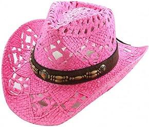 ca7fb154f4db8 Vamuss Straw Cowboy Hat W Vegan Leather Band   Beads