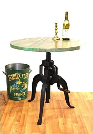 Amazoncom Iron Crank Vintage Side TABLE OLD FASHIONED Factory - Old fashioned side table