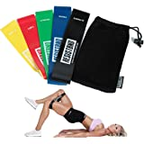 Set of 5 Booty Resistance Bands, Exercise Loop Bands for Legs and Glutes, Ideal for Home Workouts, Workouts while travelling, Gym or Rehab