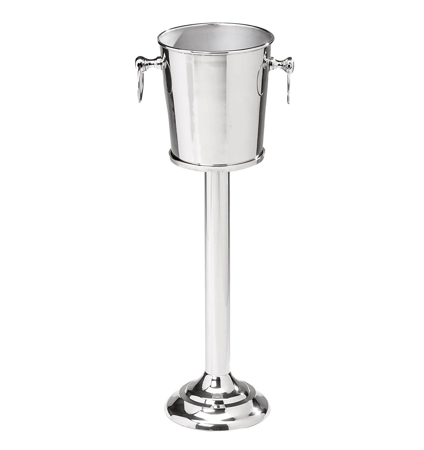 Nickel Plated Premium Aluminum Free Standing Wine Chiller | Wine Coolers & Cellar With Ice Bucket | Kitchen & Bar Wares | Nagina International