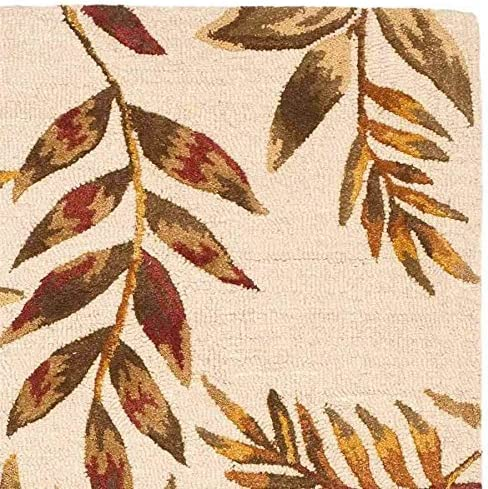 Safavieh Soho Collection Handmade Beige and Multi Premium Wool Area Rug 7'6″ x 9'6″