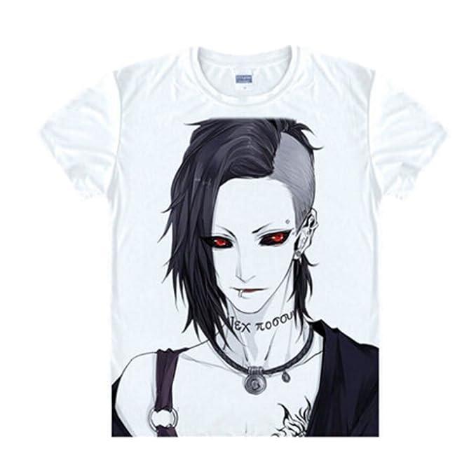 Elecos Tokyo Ghoul Camiseta Anime Disfraz con gedruckter patrón – 12 Patrones – Kiri Shima Touka