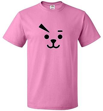 BTS BT21 Unisex Cooky FACE T-Shirt TATA MANG TATA CHIMMY SHOOKY RJ