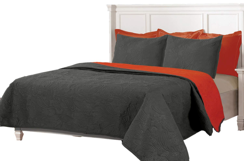 para cama de 90 Couvre-lits boutis r/éversible /à carreaux BEGUR 180x260+1 cuadrante Beige