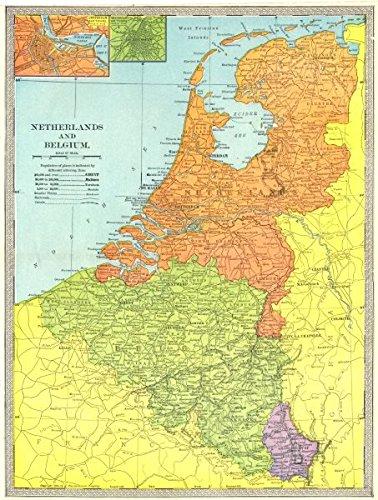 Amazon.com: NETHERLANDS BELGIUM LUXEMBOURG. Amsterdam & Brussels ...