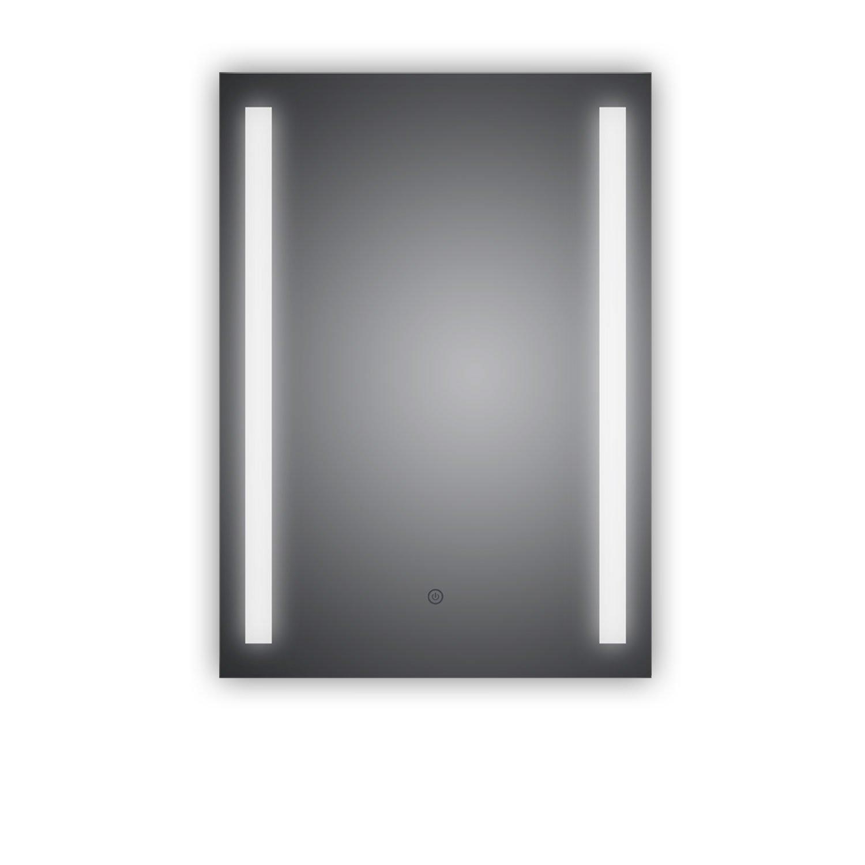 TOP AKTION WSV  Badezimmerspiegel mit mit mit LED, Lindau 50x70cm, LED Bad Spiegel, Energieklasse A+ 39e790