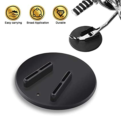 PROAUTO Motorcycle Kickstand Pad Hard Motorcycle Parking Stand for Harley  Davidson Durable Kick Stand Coaster Support Plate Helps Park Your Bike on