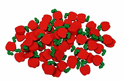 144 Mini Teachers Apple Erasers Great Classroom Prizes! PARTY FAVOR, PINATAS, GOODY BAGS