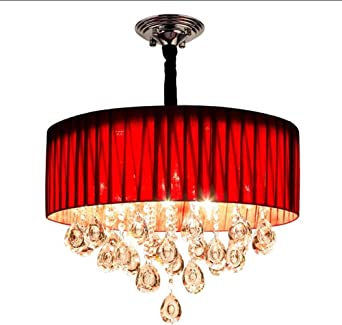 RED chandelier. in the right room, this would be
