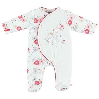 81715e8f0ec0d Noukie s Noukies Z888132 Pyjama grenouillère en Velours Bébé Fille ...