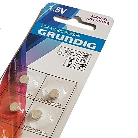 10 x GRUNDIG AG8 pilas botón Relojes de cámara de fotos Digital báscula de cocina 12