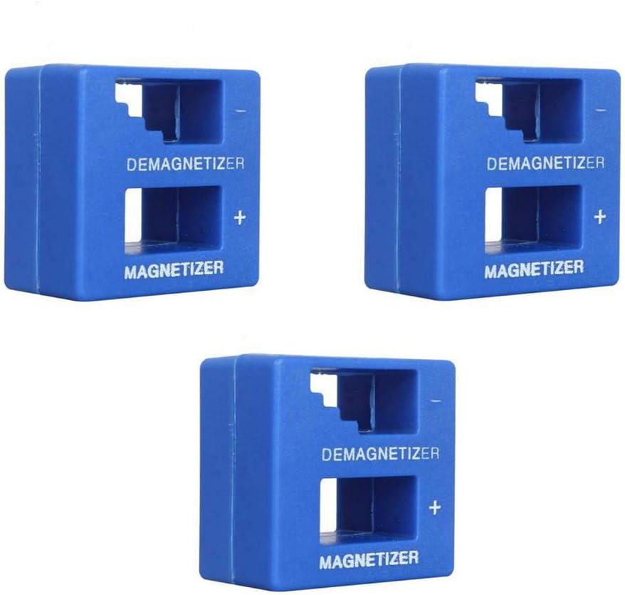 Outletdelocio. Pack 3 unidades. Magnetizador-Desmagnetizador de destornilladores y puntas. Imantador-desimantador. 50x48x28mm: Amazon.es: Electrónica