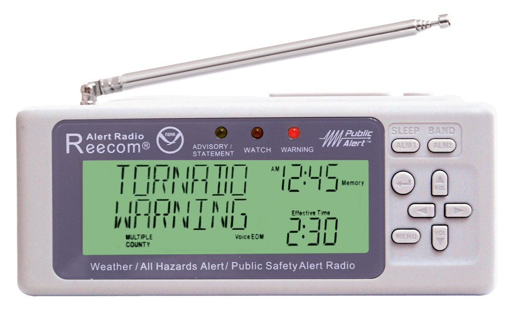 Unique Simultaneously Watch Multiple Channel Alerts (in Standby) with EOM Detection, Reecom R-500 Same Weather Alert Radio with AM/FM (Light Grey) by Reecom (Image #2)