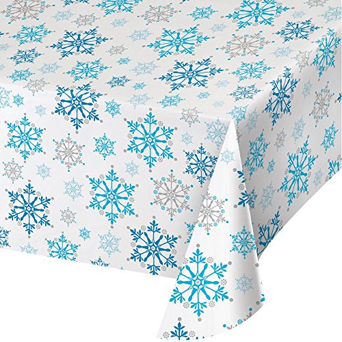 Snowflake Tablecover Frozen Winter Party Supplies Tableware