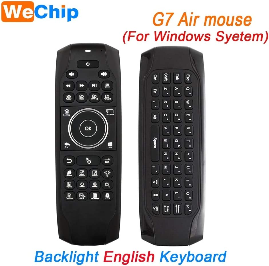 Calvas G7 Air Mouse 2.4G Wireless Remote Control IR Learning 6 Axis Mini Keyboard English Or Russian Fly Mouse For TV BOX PC Smart TV Color: Standard English