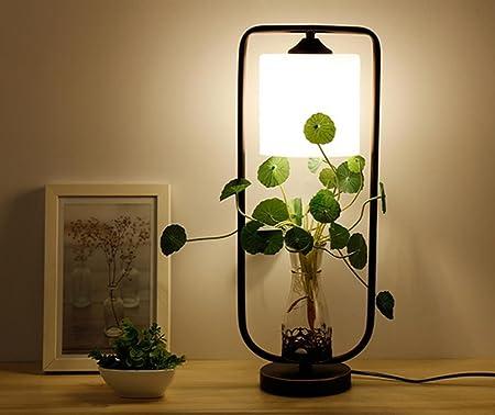 Retro viento industrial planta personal creativa lámpara de mesa ...