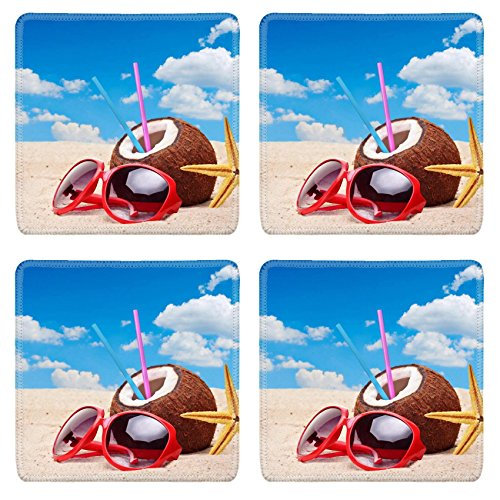 msd-natural-rubber-square-coasters-set-of-4-image-of-sand-beach-vacation-summer-blue