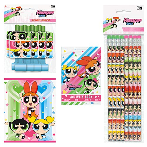 (Unique Powerpuff Girls Birthday Party Favors and Supplies | Pencils, Lootbags, Activity Books and Blowouts)