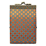 Women's French Ten Slot Accordion Style Credit Card Wallet - Orange