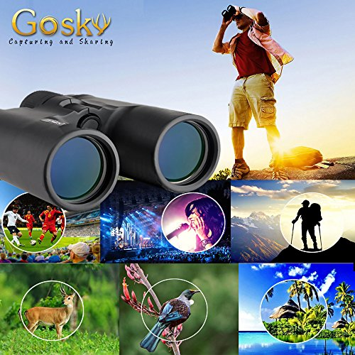 61bI50wyB5L - Gosky 10x42 Binoculars for Adults, Compact HD Professional Binoculars for Bird Watching Travel Stargazing Hunting Concerts Sports-BAK4 Prism FMC Lens-With Phone Mount Strap Carrying Bag