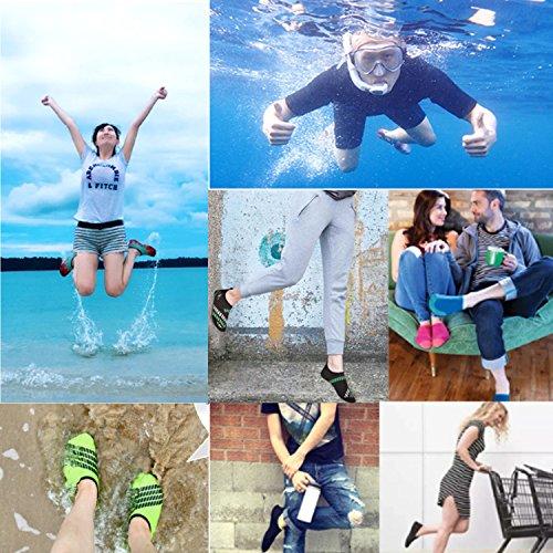 Dodoing Water Shoes Uomo Donna Quick Dry Sport Aqua Shoes Unisex Scarpe Da Nuoto Per Nuotare, Camminare, Yoga, Lago, Spiaggia, Giardino, Parco, Guida, Canottaggio Nero / Rosso # 1