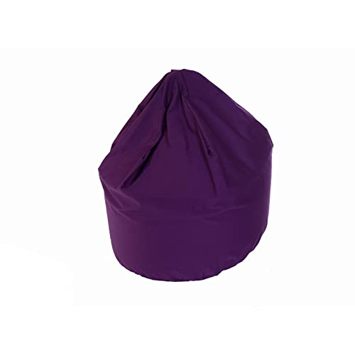 Children Size Indoor & Outoor Purple Bean Bag With Beans