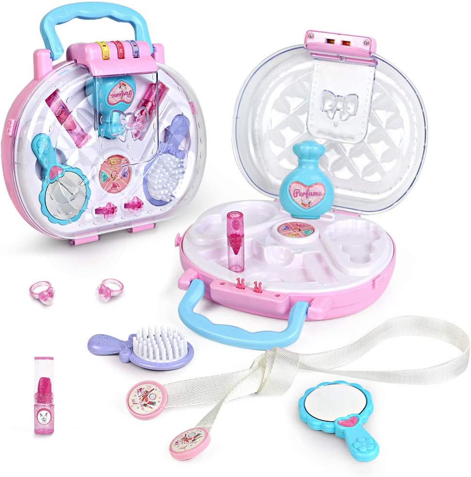 Akokie Kids Makeup Sets Pretend Play Cosmetic Bag with 2 IN 1 Carrying Case DOWN TO £9.99 w/code 6MAPUSJK @ Amazon