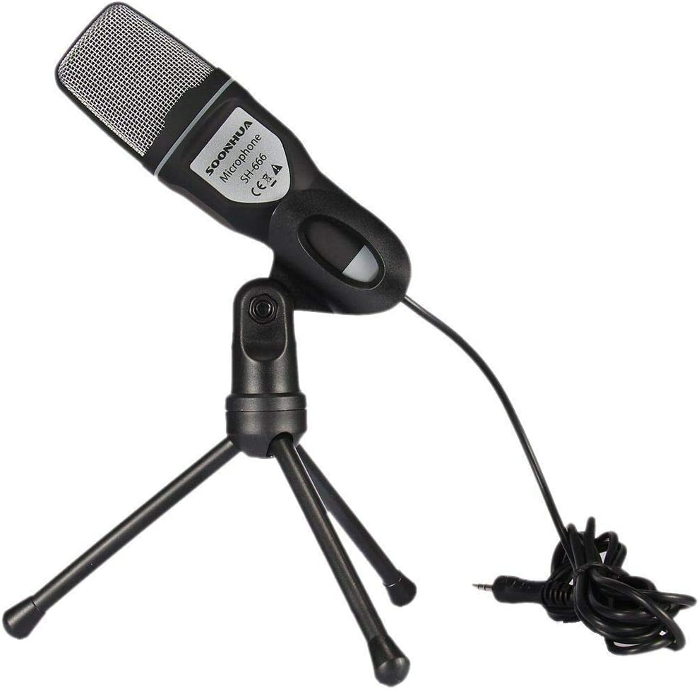 SOONHUA PC Microphone Professional USB Condenser Microphone for Laptop MAC or Windows Studio Recording Vocals Voice Overs,Streaming Broadcast