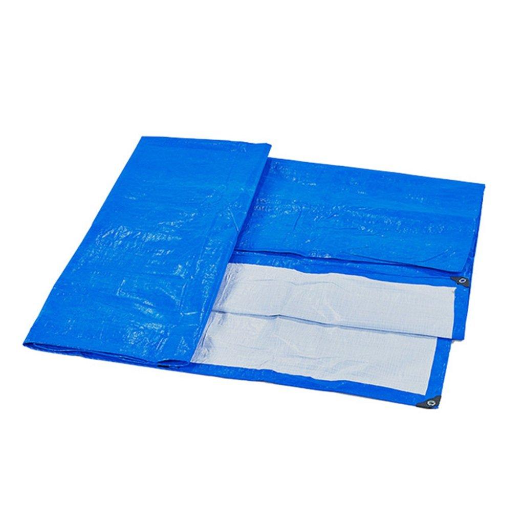 LIYin Telo Impermeabile 100% Resistente ai Raggi UV e Resistente all'Acqua - Polietilene ad Alta densità, Spessore 0,3 mm, 170 g m², 11 Opzioni di Formato (Blu) (Dimensioni   4MX4M)