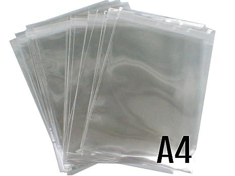100 bolsas LIVIVO® de celofán transparente, de tamaño A4 y ...