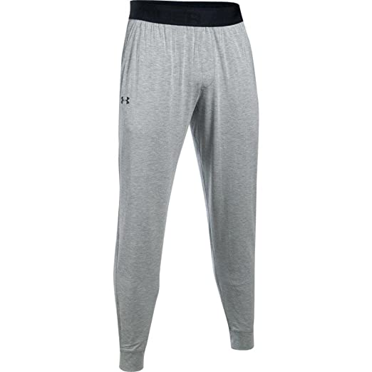 d8314705fbd0a3 Under Armour Men's Athlete Ultra Comfort Recovery Pants Sleepwear,True Gray  Heather /Carbon Heather
