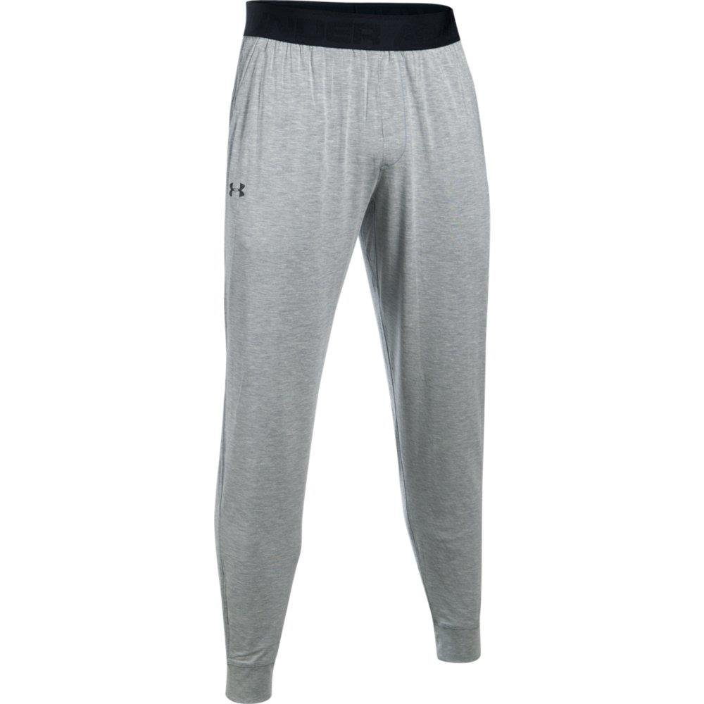 Under Armour Men's Athlete Ultra Comfort Recovery Pants Sleepwear, True Gray Heather/Carbon Heather, Large