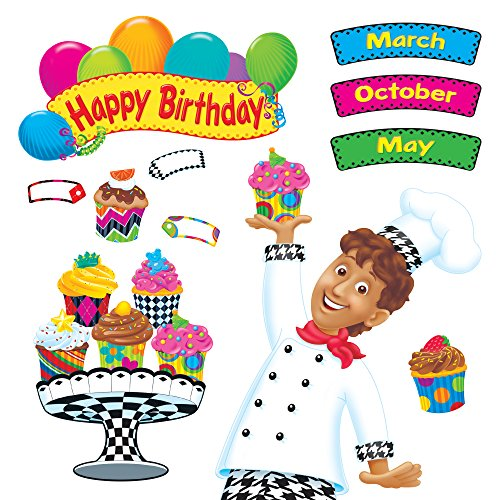 TREND Enterprises T-8350 Happy Birthday Bake Shop Bulletin