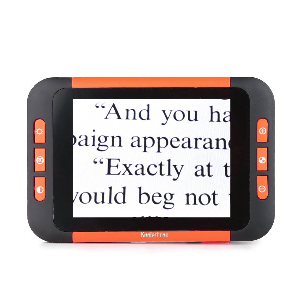 Koolertron 3.5 inch LCD Portable Video Digital Magnifier Electronic Reading Aid for Low Vision - Ideal Aide for Reading, Writing, Viewing Maps, Books - Handheld Digital Tool by Koolertron